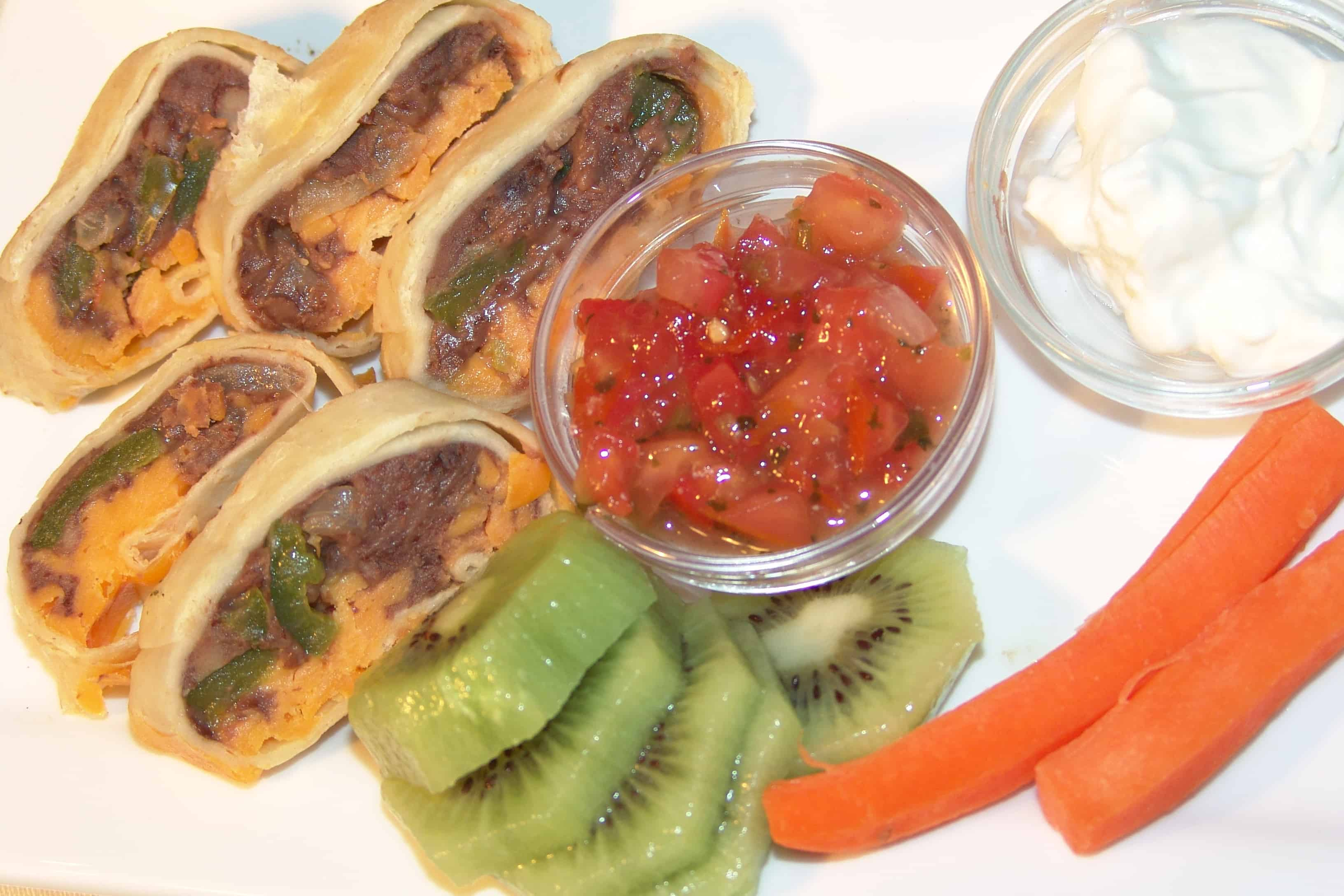 Kid friendly burritos with bean and cheese the dinner daily 5 ingredient kid fri forumfinder Image collections