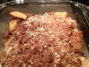 Apple Cranberry Crisp prebaking