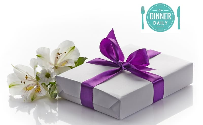 The Dinner Daily logo with wrapped gift