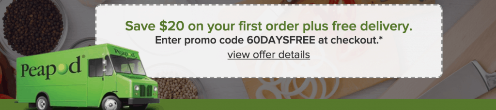 Online grocery shopping $20 off