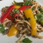 Beef Noodle Stir Fry: easy weeknight beef and noodles recipe