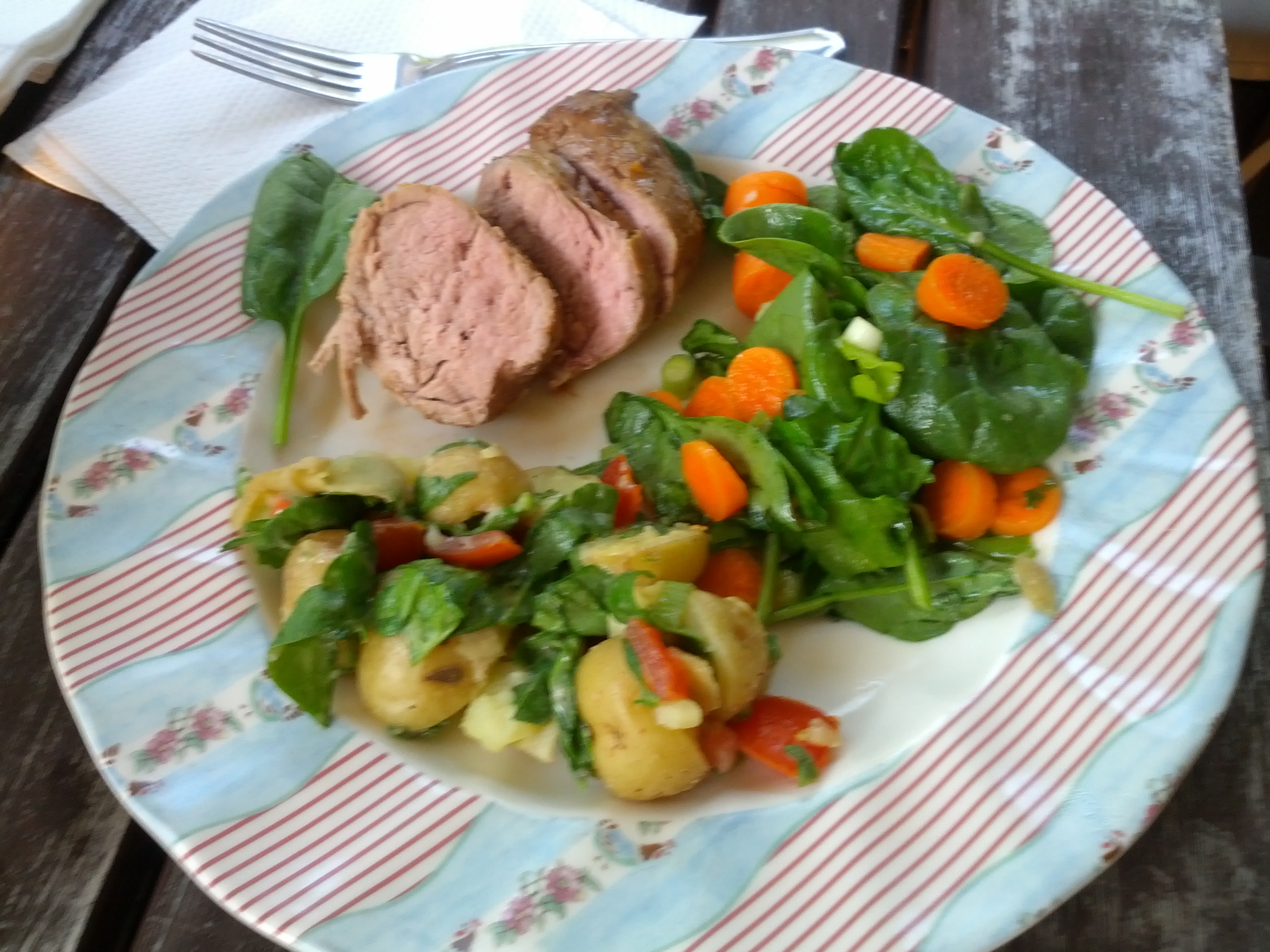 Balsamic Pork Tenderloin Meal