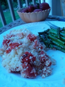 Cod with Tomatoes & Couscous